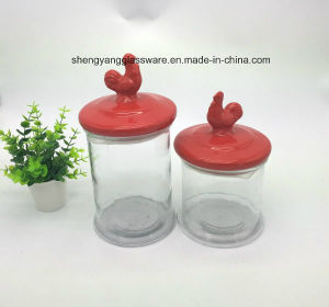 Hot Sale Glass Storage Jar Set /Glass Jar with Ceramic Lid pictures & photos