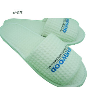 Hotel Amenities Slippers 3 Hotel Slipper Waffle Slipper Factory pictures & photos