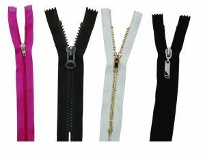 Nylon Plastic Metal Resin PVC Waterproof Zipper for Garment