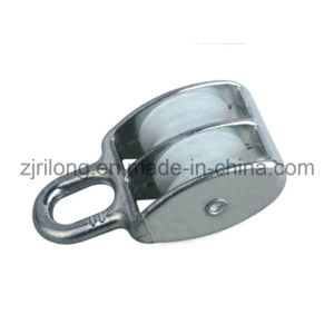 Fixed Eye Zinc Alloy Pulley with Two Nylon Wheels Dr-504z pictures & photos