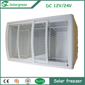 DC Solar Panel Home Appliance Double Door Fridge Freezer pictures & photos