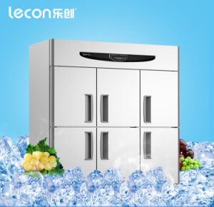 Commercial 6 Doors Engineering Kitchen Refrigerator pictures & photos