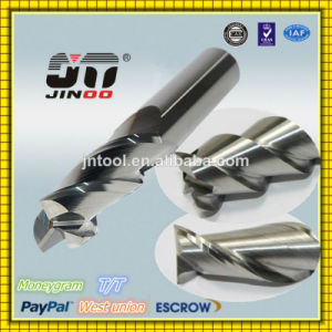 Polished Uncoated Aluminum Alloy Used Carbide End Mill Cutter pictures & photos