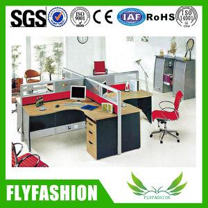 Office Desks 4 Seats Partition L Shaped Workstation (OD-29) pictures & photos