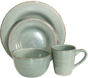 Better Quality Glaze Ceramic Mug Plate Dinner Set with Multicolor pictures & photos