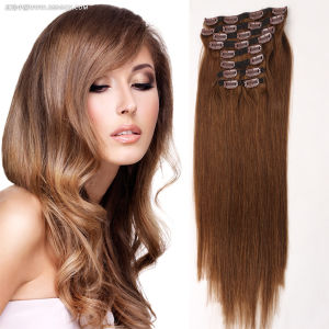 Top Quality Luxury 120g 160g 220g Clip in Hair Extension, Wholesale Clip in Hair Extension pictures & photos