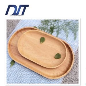 Creative Restaurant Natural Healthy Handmade Ellipse Wood Serving Plate