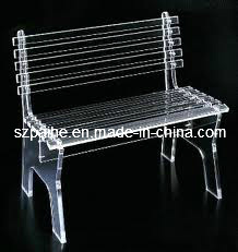 Full Clear Crastal Acrylic Bench with Back (CY1003)