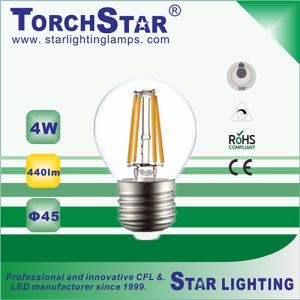 4W G45 Glass LED Filament Lamp pictures & photos