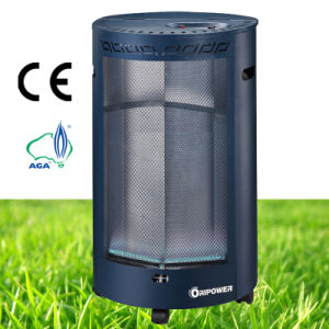 Indoor 4.2kw Cylindrical Blue Flame Gas Heater pictures & photos