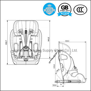 Baby Car Safety Seat for 4-12 Years Child with ECE 049187 Certification pictures & photos