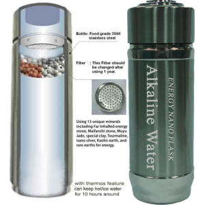 304 Stainless Steel Alkaline Nano Energy Cup with Thermos Function pictures & photos