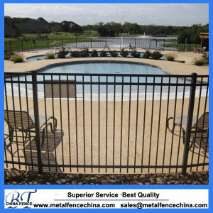 Powder Coated Professional Flat Top Wrought Iron Fence pictures & photos