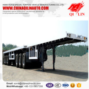 20FT 40FT Superlink Flatbed Semi Trailer Truck with Fifth Wheel pictures & photos