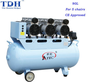 CE Approved Powerful 90L Dental Air Compressor (TDH-180/90) pictures & photos