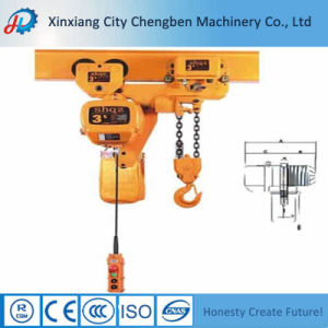 Small Trolley Electric Chain Hoist on Bridge Crane Lifting pictures & photos