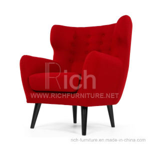 Wing Back Modern Fabric Sofa for Living Room (1 seater) pictures & photos