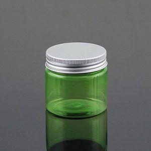 Hot Sale 50g Pet Plastic Jar with Aluminum Screw Cap for Cosmetic Cream Packaging pictures & photos