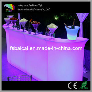 RGB Color Change LED Bar Table, Modern Glowing Furniture