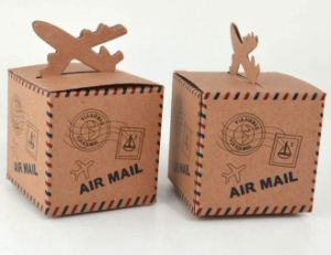 Brown Kraft Paper Printing Air Mail Gift Box pictures & photos