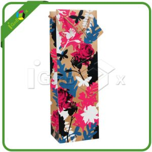 Customized Wholesale Paper Wine Bags pictures & photos