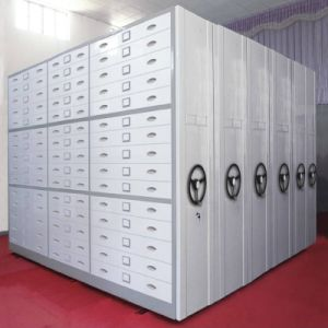 Steel Mass Compactor Manual Mobile Storge Archive Shelving pictures & photos