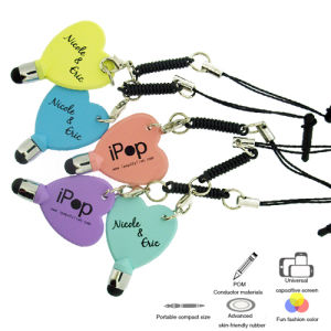 Heart Shape Stylus Pen Advertising Pen with Touch Panel Equipment pictures & photos