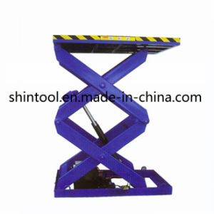 1.5t Double Cross Stationary Lift Table Sjg1.5-1.2 (Customizable) pictures & photos