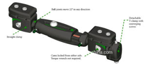Xcaliber Fixator Orthofix Radiolucent Tibia Fixator Xcaliber Meta-Diaphyseal Fixator