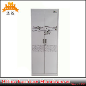 Kd Structure Cheap Metal Bedroom Furniture 2 Door Steel Almirah Locker Wardrobe pictures & photos