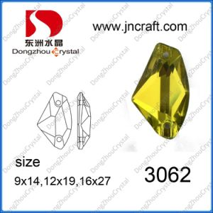 Dz-3062 Sew on Flat Back Glass Stones for Garment pictures & photos