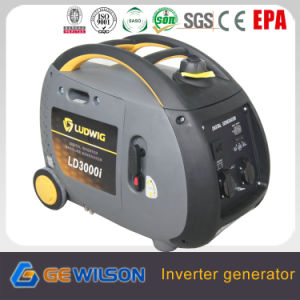 3000W 4 Stroke Ohc Digital Portable Inverter Generator with Wheels and Handle pictures & photos