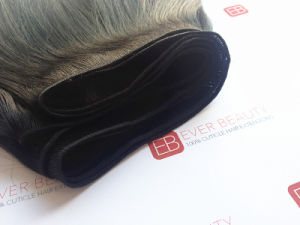 Machine Made Hair Weft 100% Remy Human Hair No Tangle pictures & photos