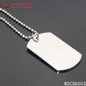Wholesale Stainless Steel High Quality Polished Blank Necklace Dog Tag pictures & photos