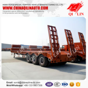 ISO SGS CCC Approved Low Bed Semi Trailer From Manufacturer pictures & photos