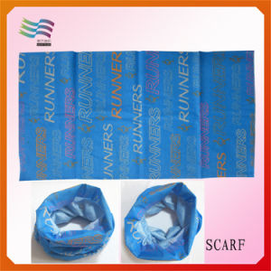 Custom Magic Scarf with Blue Background (HYS-AF053) pictures & photos