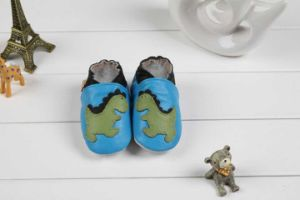 Baby Cow Leather Shoes Soft Sole Prehobbler Shoes (SWBBS5)