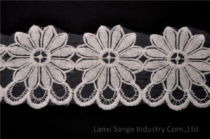Novel Embroidery Cotton Lace for Clothes pictures & photos