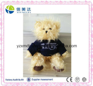 Good Handmade Long Plush Material Teddy Bear with Sweater pictures & photos