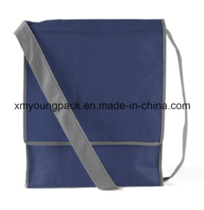 Promotional Navy Blue Eco Friendly Non-Woven Shoulder Bag pictures & photos