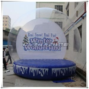 Real Snow Real Fun Backdrop Inflatable Human Christmas Snow Globe pictures & photos