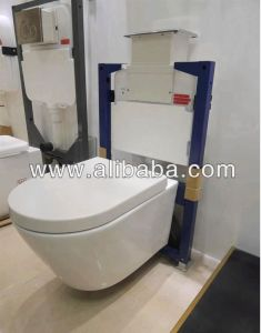 Watermark Conceal Install Screws Wall Hung Round Ceramic Toilet (6013) pictures & photos