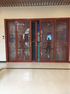 Aluminum Sliding Door with Grill Inside Double Glass pictures & photos