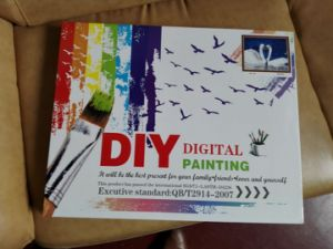Wholesales Snow Ciy Landscape DIY Painting by Numbers on Canvas pictures & photos