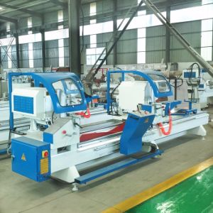 Double Angular Aluminum Saw for Making Windows and Doors pictures & photos