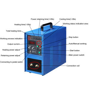 High Frequency Induction Heating Machine with Water Chiller pictures & photos
