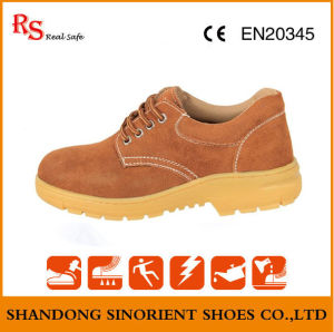 Slip Resistant Men Leather Working Kitchen Safety Shoes RS397 pictures & photos