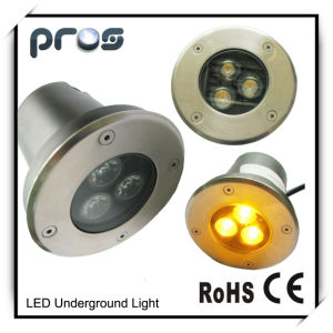High Power 3*1W LED in-Ground Lights 12V/220V pictures & photos