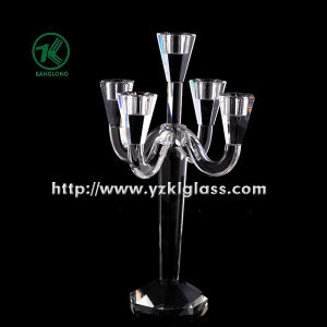 Crystal Candle Holder with Five Posts by SGS pictures & photos