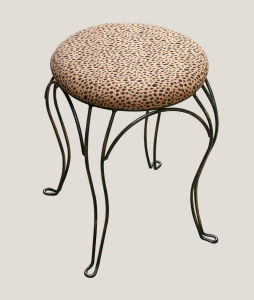 Fabric Cushion Seat Round Stool pictures & photos